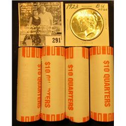 (4) 2001 D Solid Date Rolls of Gem BU New York Statehood Commemorative Quarters in bank-wrapped Roll