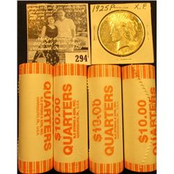 (4) 2007 D Solid Date Rolls of Gem BU Idaho Statehood Commemorative Quarters in bank-wrapped Rolls;