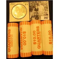 (4) 2005 D Solid Date Rolls of Gem BU West Virginia Statehood Commemorative Quarters in bank-wrapped
