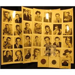 """(3) different 8 1/2"""" x 11"""" Black & White photo cards which cut up to Wallet Size portraits of variou"""