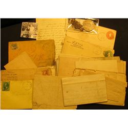 Nice Postal History Group of Early letters, postal Cards, envelopes and etc. dating from the early 1