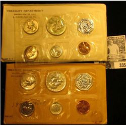 1957 & 1959 U.S. Proof Sets in original cellophane and envelopes as issued.