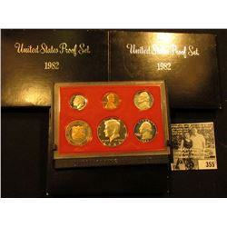 (3) 1982 S U.S. Proof Sets, Original as issued.