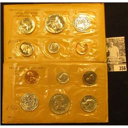 1959 & 1961 U.S. Silver Proof Sets, original as issued.