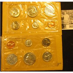 1961 & 1963 U.S. Silver Proof Sets, original as issued.