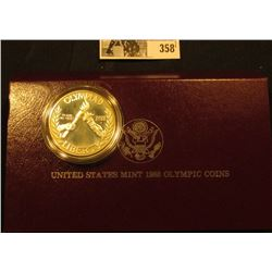 1988 S U.S. Olympics Proof Silver Commemorative Dollar in original box as issued.