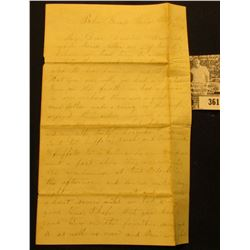 1863 Civil War Letter from Blu Grafs, Iowa, which mentions firing cannons at Davenport, and speaks o