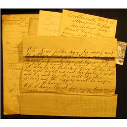 """Mid to late 1800 era Abstracts, legal papers, letters, & etc. including an 1866 letter to """"Dear Frie"""