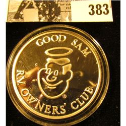 """""""Good Sam RV. Owners' Club"""", """"Good Sam/.999 Fine Silver/Smiling Faces/Going Places/1988/Rose Parade"""
