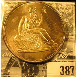 Liberty Seated Design One Ounce .999 Fine Silver Medallion.
