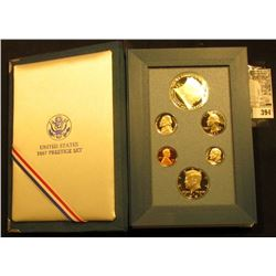 1987 U.S. Silver Prestige Proof Set, original as issued.