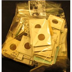 (139) Carded Lincoln Cents dating from the 1920-40s, many scarcer dates and grades.