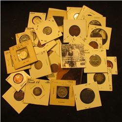 Old Selection of Canada Coins: (7) Canada Large Cents dating back to 1859; (9) small Cents; (2) Half
