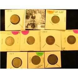 1903, (4) 1906, & (4) 1907 U.S. Liberty Nickels in carded holders.
