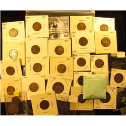 (4) 1891, (13) 1900, & (18) 1901 Indian Head Cents. Most carded and ready for sale.