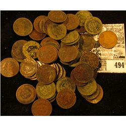 (57) Old Indian Head Cents dating back to 1863 & 1938 P Lincoln Cent.
