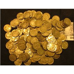 (140+) Buffalo Nickels, about 60% part date with the balance evenly split between full date and no d