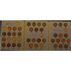 Partial Set of (38) Canada Large Cents 1859-1920 in a blue Whitman folder.