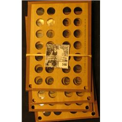 (4) Wayte Raymond Coin Boards to hold U.S. small Cents.