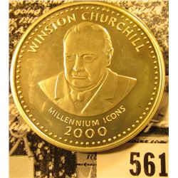 2000 Winston Churchill Millennium Icons Republic of Somalia Silver 250 Shillings, Prooflike.
