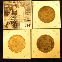 1901 VF, 1907 Fine, & 1917 EF India Silver Rupees.