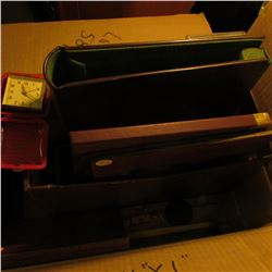 Large Box of empty brown Eisenhower dollar boxes, coin tubes, holders, cases, miscellaneous Coin Sup