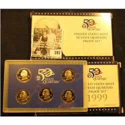 (2) 1999 S United States Mint 50 Quarters Proof Sets in original boxes as issued.