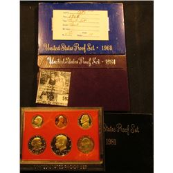 1968 S, 84 S, & 81 S U.S. Proof Sets. Original as issued.