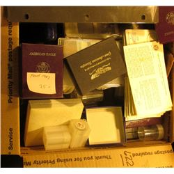 Box of Old Coin Supplies, Tubes, Coin Boxes, and etc.