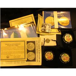 Group of Coin literature, COAs and etc. as well as a 1999 Delaware Quarter from Lois with a letter t