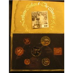 1976 Six-Piece Great Britain Silver Proof Set in original case and box of issue.