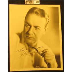 "6.5"" x 8.5"" B & W autographed Photo of Huntley Ashworth Gordon (October 8, 1879 – December 7, 1956)"