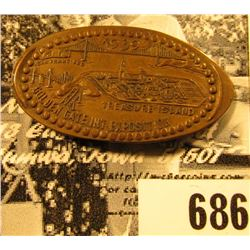 """1939 San Francisco Treasure Island Golden Gate Int Exposition"" Elongated Cent, R-2, CAL-GGIE-10, ca"