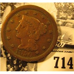 1850 U.S. Large Cent, Very Good.