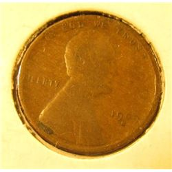1909 S Lincoln Cent, VG with a small rim nick, Net Good.