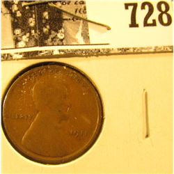 1911 S Lincoln Cent, Good.