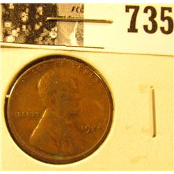 1924 D Lincoln Cent, Very Good.