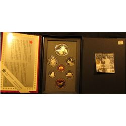 1990 Canada Double Dollar Proof Set in original hard case of issue.