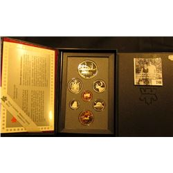 1991 Canada Double Dollar Proof Set in original hard case of issue.