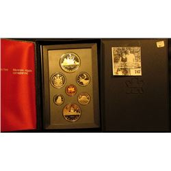 1987 Canada Double Dollar Proof Set in original hard case of issue.