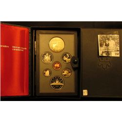 1985 Canada Double Dollar Proof Set in original hard case of issue.