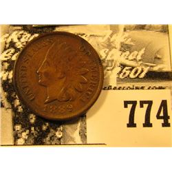 1889 P Indian Head Cent, EF.