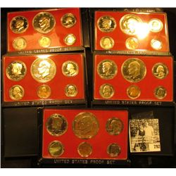 (5) 1975 S U.S. Bicentennial Proof Sets in orginal holder and shipping box.