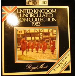 1983 United Kingdom Uncirculated Coin Collection in original holder of issue.