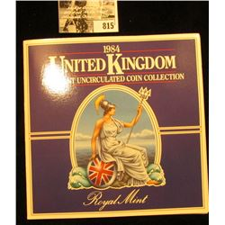 1984 United Kingdom Uncirculated Coin Collection in original holder of issue.