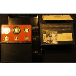 (4) 1979 S U.S. Proof Sets, all with Type II Cents, the remainder of the coins are type 1. Stored in