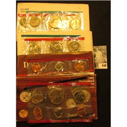 1979, 80, 84, & 85 U.S. Mint Sets. Original as issued. ($12.28 face value) Red Book $31.00.