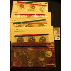 1976, 78. 80, 81, & 85 U.S. Mint Sets. Original as issued. Red Book $40.00. (face value $19.10).
