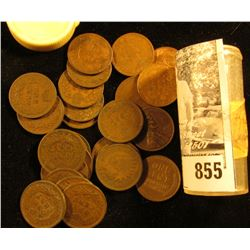 1920 & (2) 64 Canada Cents; (2) Wheat & a memorial Cent; & (18) Indian Head Cents dating back to 187