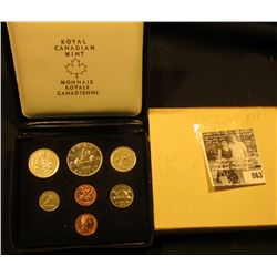 1976 Royal Canadian Mint Double Cent Set in original box of issue with literature.